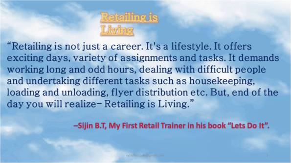 Sijin on retail